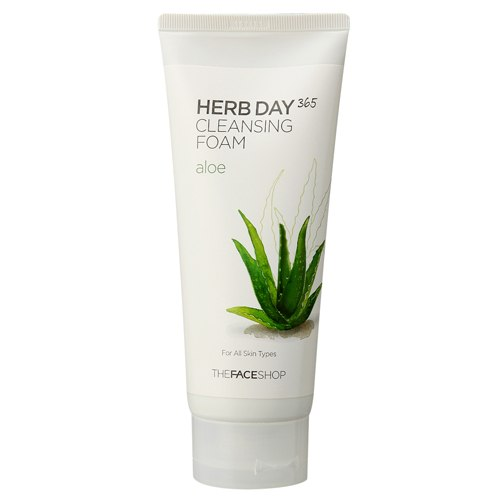 Пенка для умывания с экстрактом алое herb day 365 the face shop (The Face Shop)
