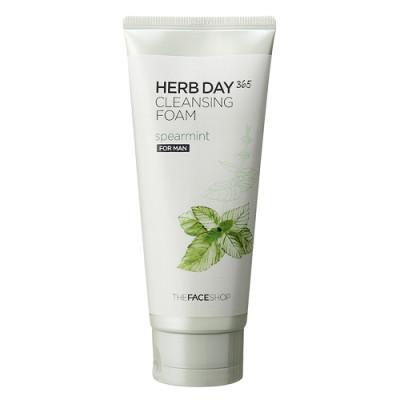 Пенка для умывания с экстрактом мяты для мужчин herb day 365 the face shop (The Face Shop)