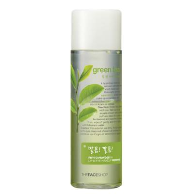 Средство для снятия макияжа с губ и глаз (зеленый чай) phyto powder the face shop (The Face Shop)