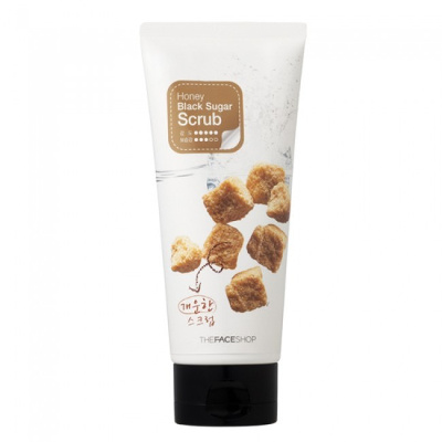 Скраб для лица honey black sugar the face shop (The Face Shop)