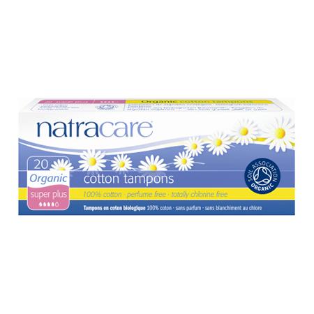 Био тампоны super-plus без аппликатора natracare (Natracare)