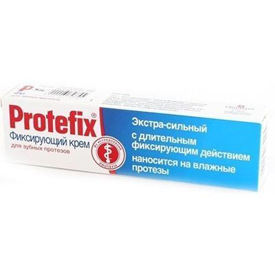 Фиксирующий крем экстра-сильный для зубных протезов 20 гр protefix (Protefix)