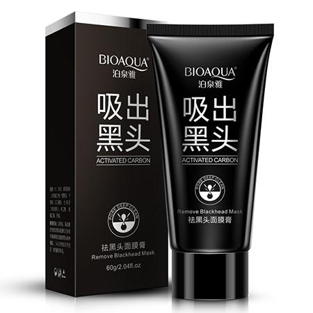 Черная маска-пленка от прыщей и черных точек bioaqua (Black Mask)