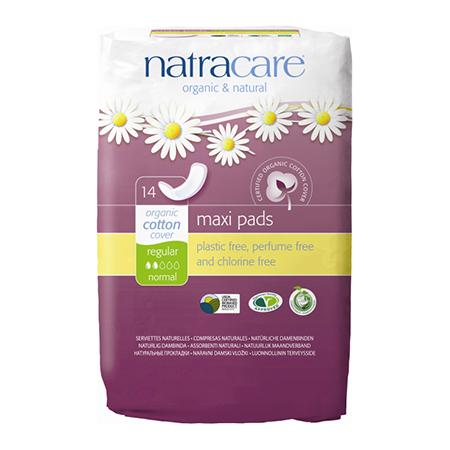Натуральные женские прокладки natural pads curved natracare