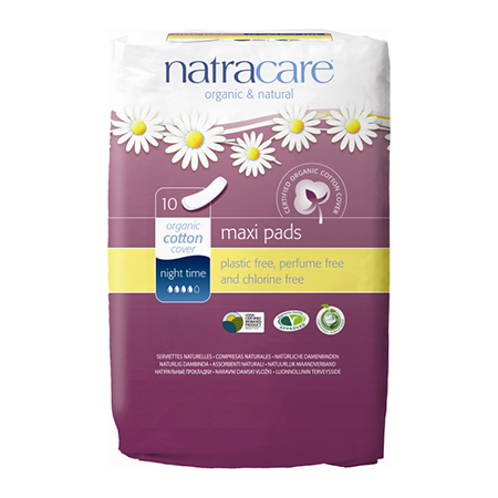 Натуральные женские прокладки natural pads nightimes natracare