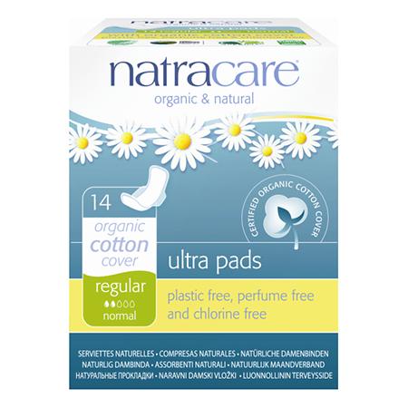 Натуральные женские прокладки ultra pads regular natracare