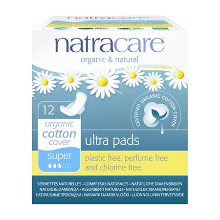Натуральные женские прокладки ultra pads super natracare