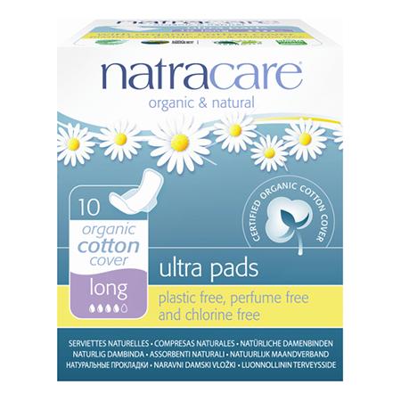 Натуральные женские прокладки ultra pads long natracare