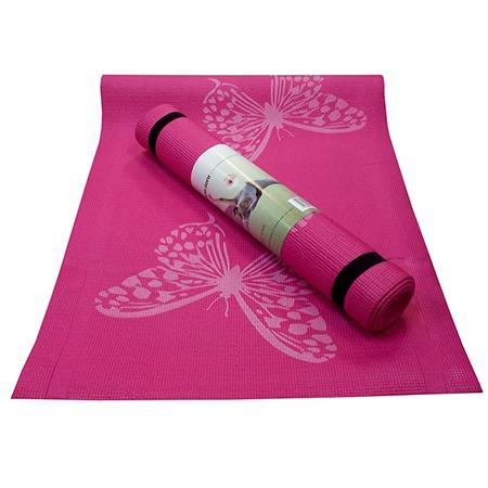Коврик для йоги flower розовый yoga (Yoga)