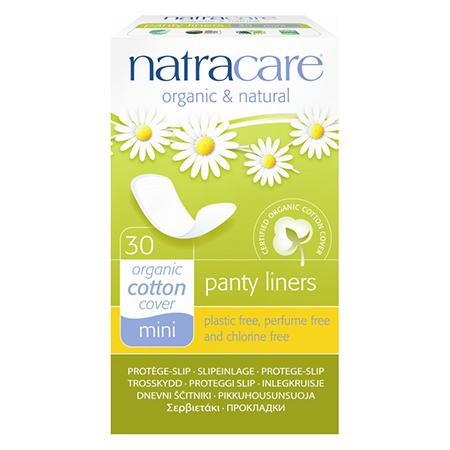 Натуральные женские прокладки panty liners breathable natracare