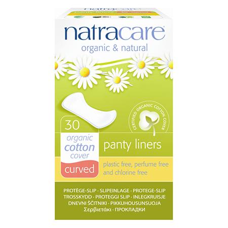 Натуральные женские прокладки panty liners curved natracare