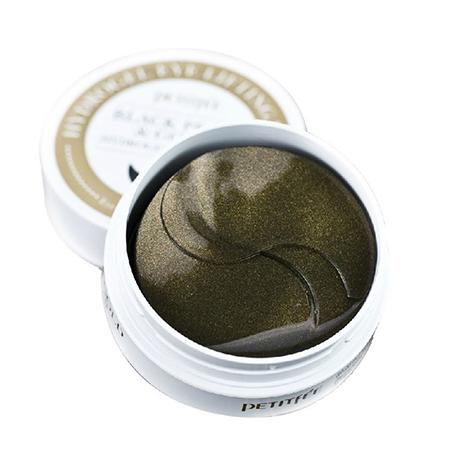 Гидрогелевые патчи для области вокруг глаз с коллоидным золотом и пудрой черного жемчуга petitfee (PETITFEE)