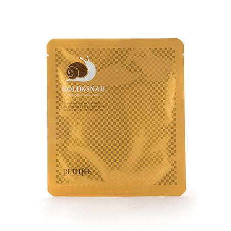 Гидрогелевая маска с золотом и улиточным муцином petitfee