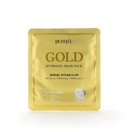 Гидрогелевая маска для лица с золотом petitfee (PETITFEE)