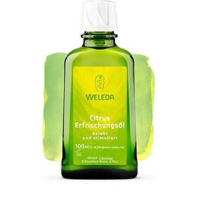 Цитрусовое освежающее масло для тела weleda