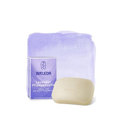 Лавандовое растительное мыло weleda