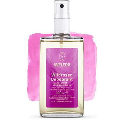 Розовый дезодорант weleda