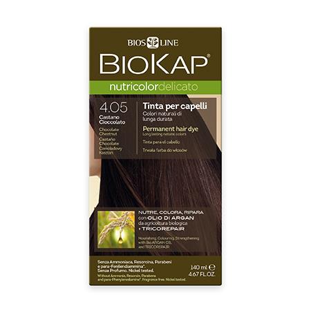 Стойкая крем-краска для чувствительных волос biokap nutricolor delicato (цвет шоколадный каштан) biosline