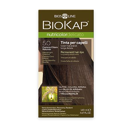 Стойкая крем-краска для чувствительных волос biokap nutricolor delicato (цвет светло-коричневый) biosline