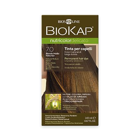 Стойкая крем-краска для чувствительных волос biokap nutricolor delicato (цвет средне-русый) biosline