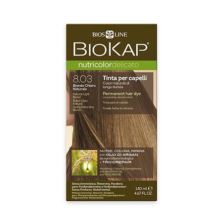 Стойкая крем-краска для чувствительных волос biokap nutricolor delicato (цвет блондин натуральный светлый) biosline