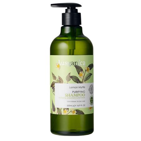 Очищающий шампунь для жирных волос лимонный мирт 500 мл ausganica (Ausganica)