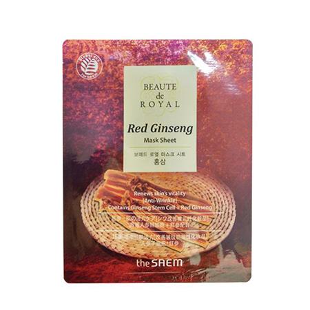Маска beaute тканевая с экстрактом женьшеня beaute de royal mask sheet - red ginseng the saem