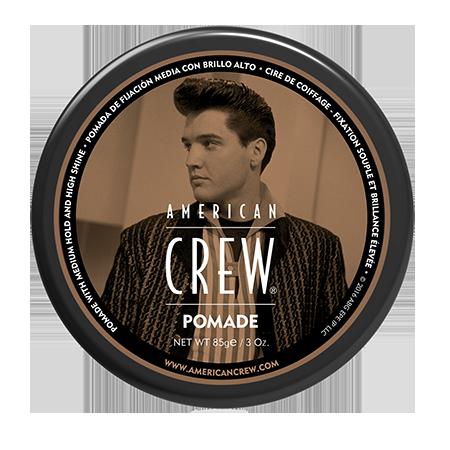 Помада со средней фиксацией и высоким уровнем блеска для укладки волос king pomade 85 г american crew (American Crew)