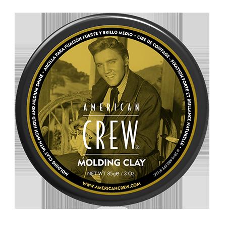 Формирующая глина сильной фиксации со средним уровнем блеска для укладки волос king classic molding clay 85 г american crew (American Crew)