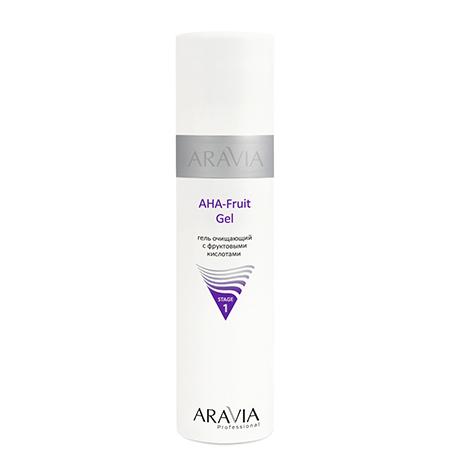 Гель очищающий с фруктовыми кислотами aha fruit gel aravia (Aravia)