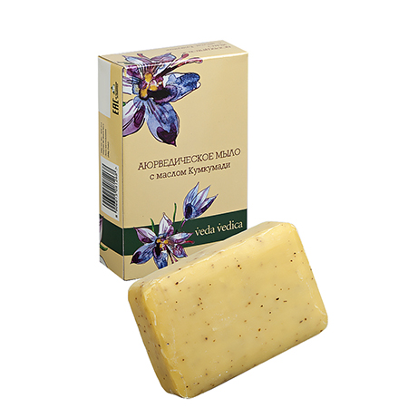 Аюрведическое мыло с маслом кумкумади veda vedica ааша