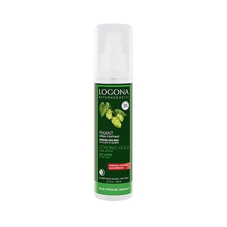 Натуральный фиксирующий спрей-лак для волос био- хмель logona (Logona)
