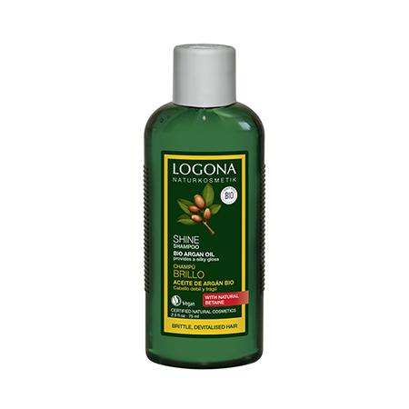 Шампунь для восстановления блеска волос с био-аргановым маслом 75 мл logona