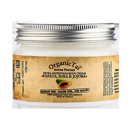 Экстрапитательный крем для тела папая, ши и жожоба organic tai