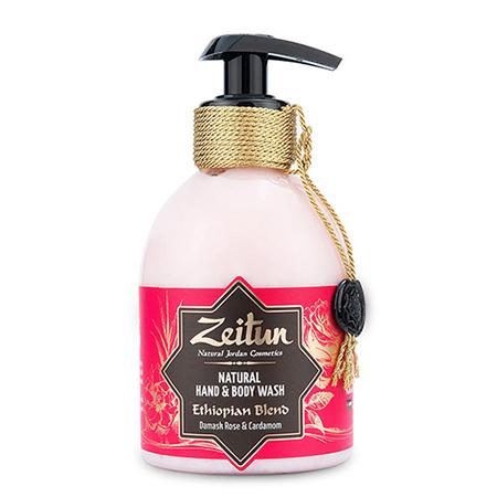 Жидкое мыло зейтун для рук и тела эфиопский купаж: дамасская роза и кардамон зейтун