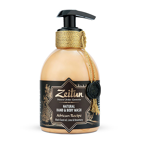 Жидкое мыло зейтун для рук и тела африканский купаж: с маслом черного тмина, лаймом и розмарином зейтун