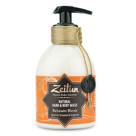 Жидкое мыло зейтун для рук и тела бедуинский купаж: масло арганы, корица и танжерин зейтун