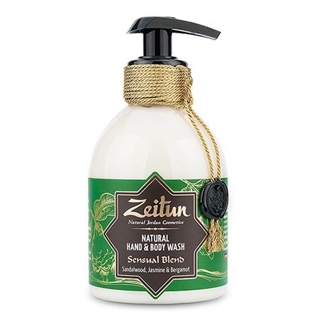 Жидкое мыло зейтун для рук и тела чувственный купаж: сандал, бергамот и жасмин зейтун