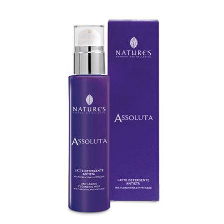 Assoluta молочко очищающее для лица и глаз с ирисом флорентина и концентратом myrtilage natures