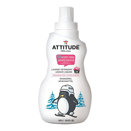 Концентрированная жидкость для стирки baby гипоаллергенная без запаха (35 стирок) attitude