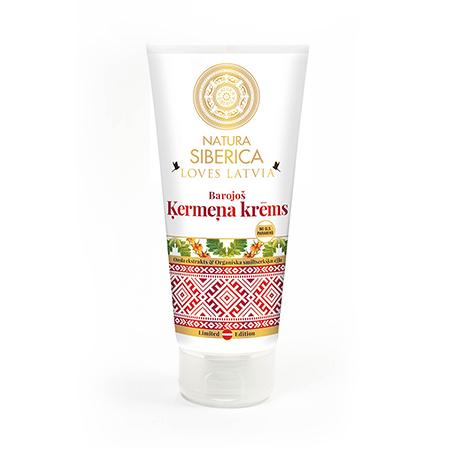 Питательный крем для тела экстракт дуба и органическое масло облепихи loves latvia natura siberica