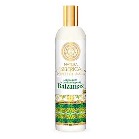 Бальзам длина и сила с органическими экстрактами липы и хмеля loves lithuania natura siberica