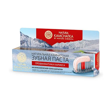 Натуральная камчатская зубная паста профилактика кариеса на вулканической соли kамчатки kamchatka natura siberica