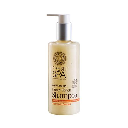 Восстанавливающий био-шампунь для окрашенных волос медовый сбитень bania detox natura siberica