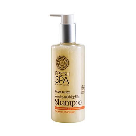 Питательный био-шампунь для сухих и поврежденных волос золотая облепиха bania detox natura siberica