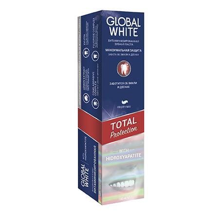 Укрепляющая зубная паста total protection 100 мл global white
