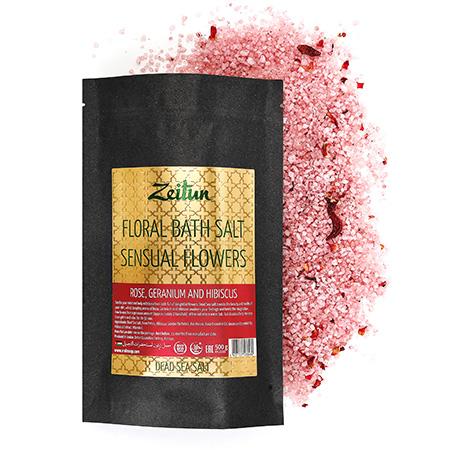 Цветочная соль для ванн волнующие цветы зейтун