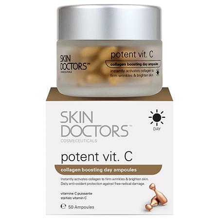 Дневная концентрированная сыворотка с витамином с в ампулах potent vit. с skin doctors