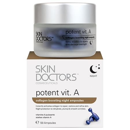 Ночная концентрированная сыворотка с витамином а в капсулах potent vit.а skin doctors