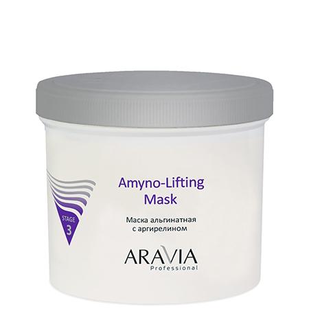 Маска альгинатная с аргирелином amyno-lifting aravia professional